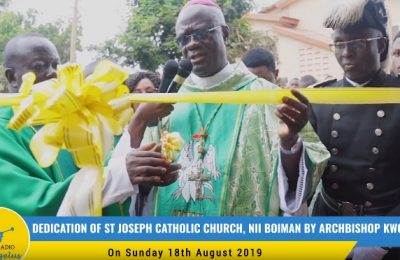 Dedication of St Joseph Catholic Church, Nii Boiman