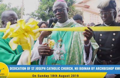 Dedication of St Joseph Catholic Church, Nii Boiman