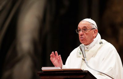 Pope Prays At Santa Maria Maggiore